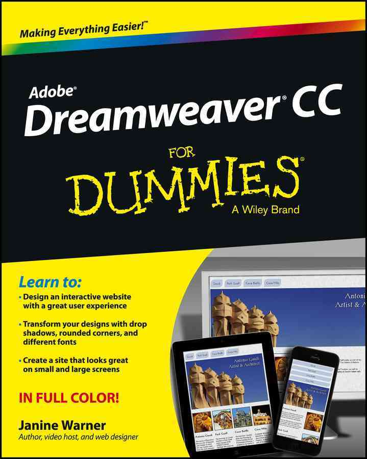 Dreamweaver Cc for Dummies By Warner, Janine